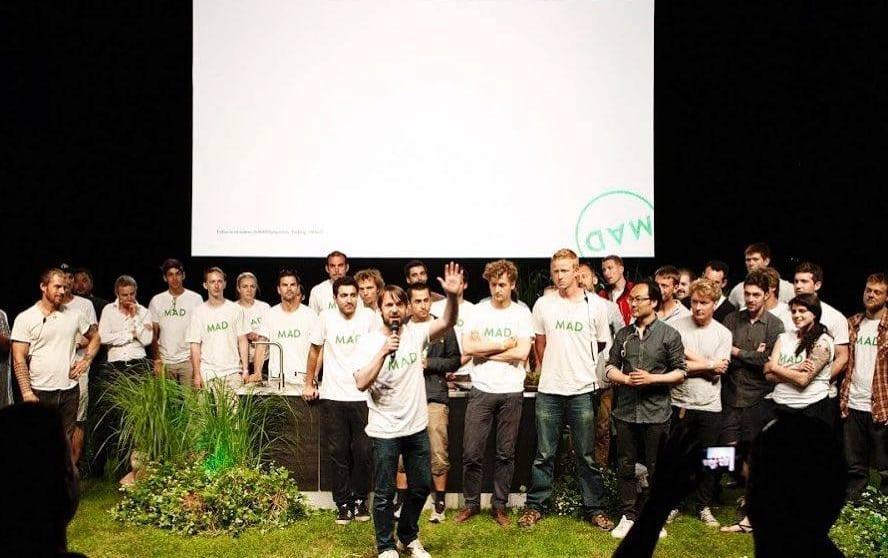 Renè Redezepi e i ragazzi di Mad sul palco della manifestazione