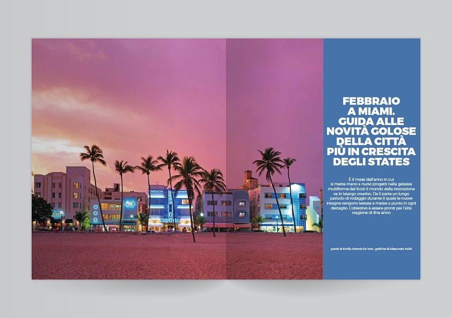 Due pagine del Gambero Rosso con foto di Miami