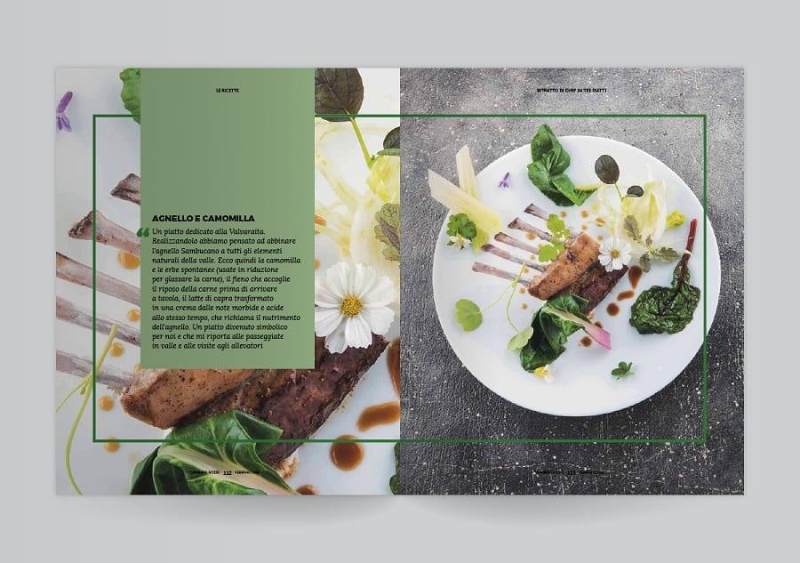 Due pagine del Gambero Rosso con una ricetta