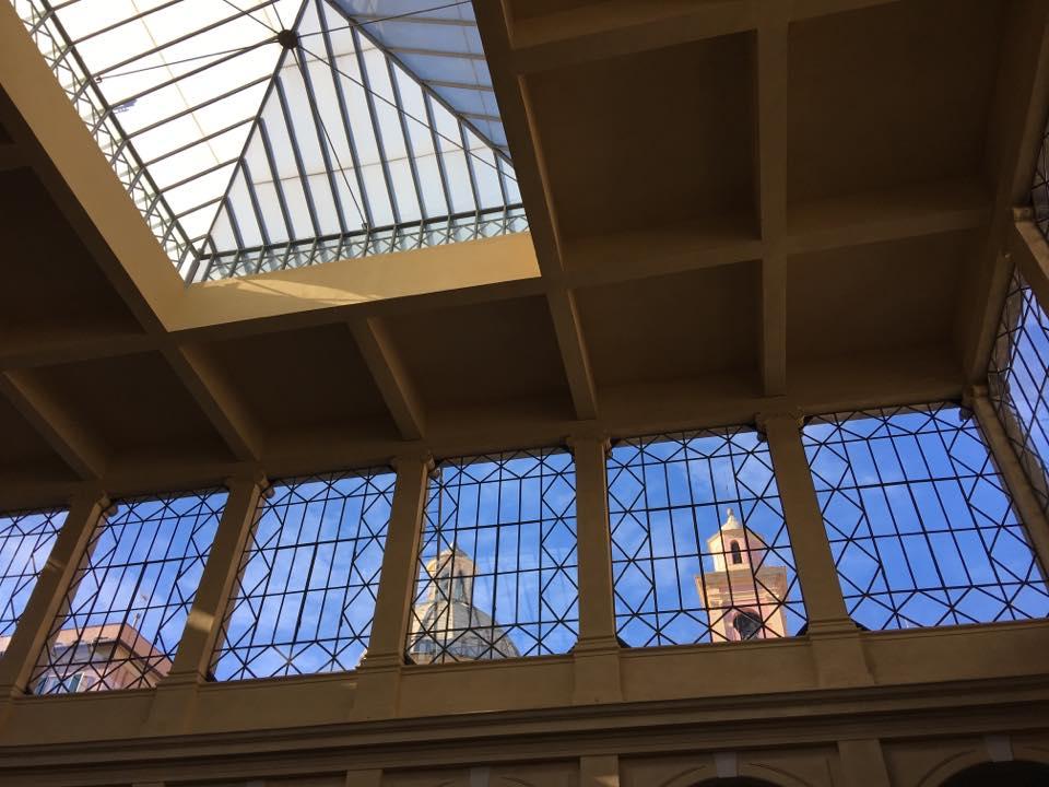 La copertura a vetri del Mercato Orientale di Genova