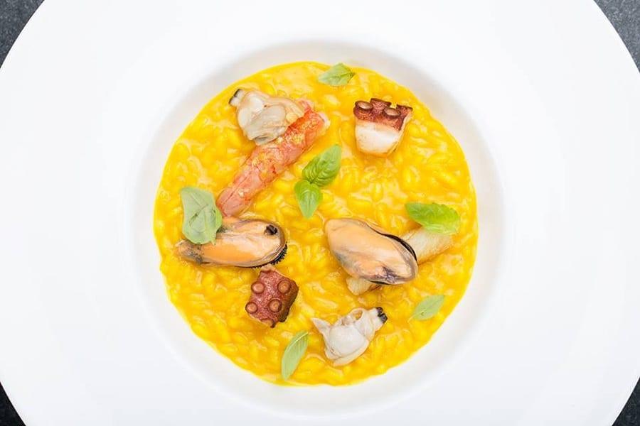 Un piatto di risotto con i frutti di mare di Roberto Di Pinto