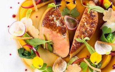 Un piatto a base d'anatra e verdure dell'orto di Philippe Mille