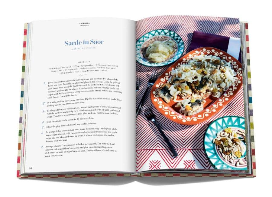 Ricetta delle sarde in saor nel libro The Missoni Family Cookbook
