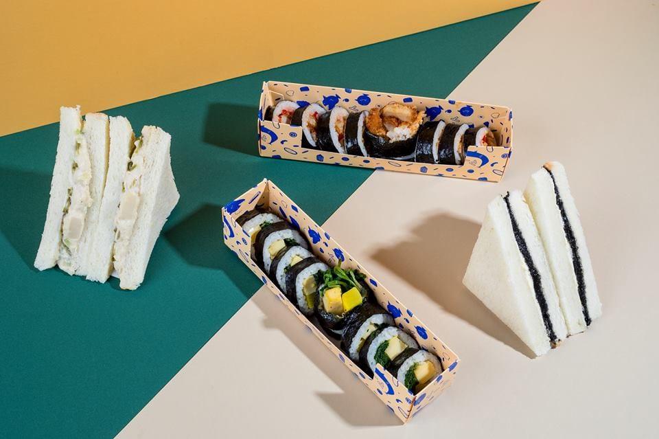 Kimbap e sandwich