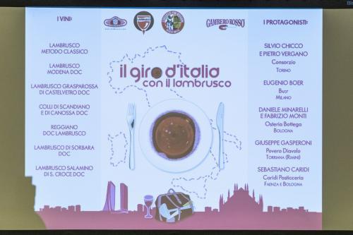 Il giro d'Italia con il Lambrusco a Milano