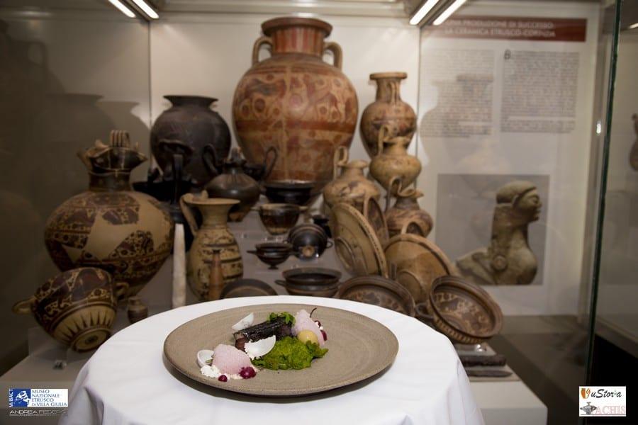 Piatto di Davide Del Duca nel museo di Vulci