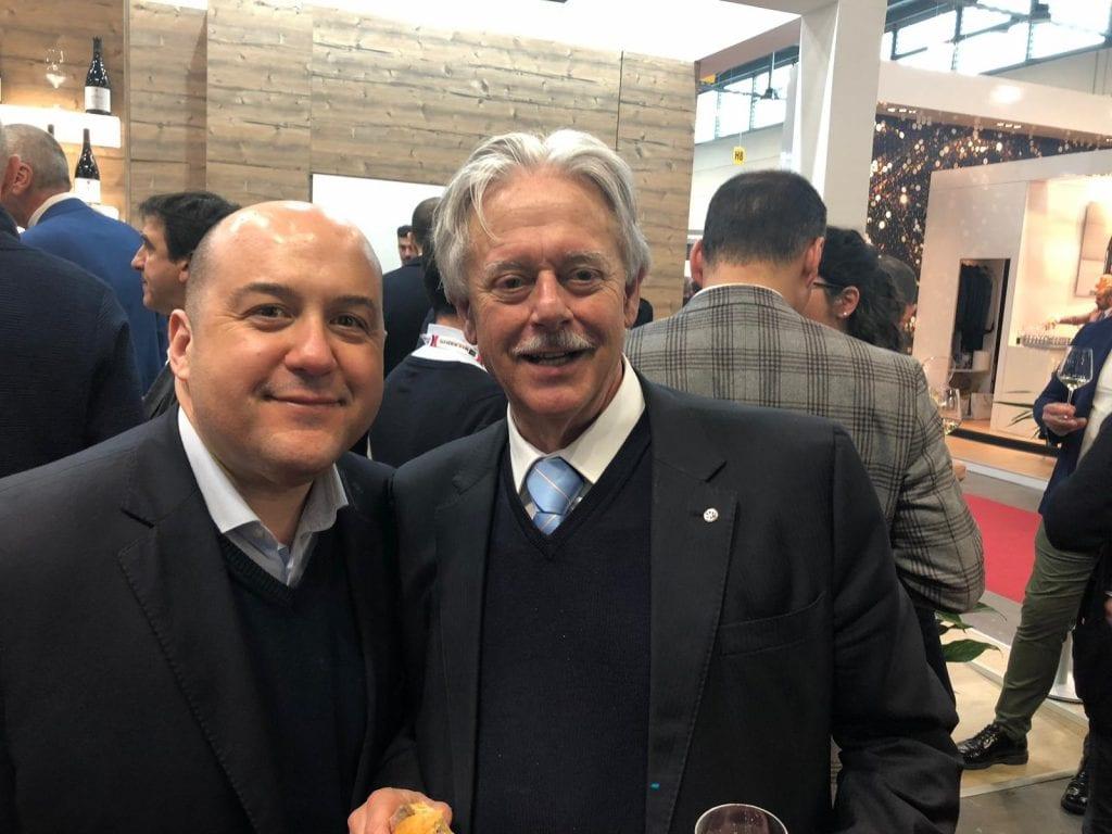 Alessandro Pipero e Luigi Caporicci Presidente della Gotto d'Oro