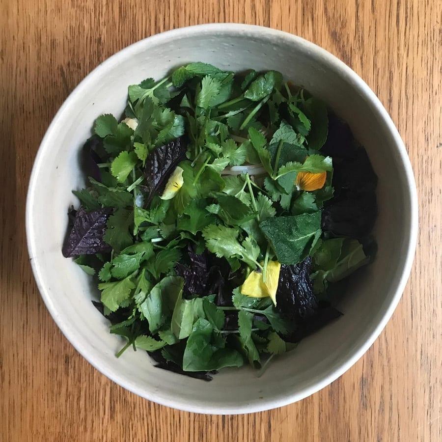 La base di verdure per il doppio peperoncino di Casa Ramen Power