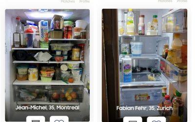 Due frigoriferi aperti sull'app Refrigerdating