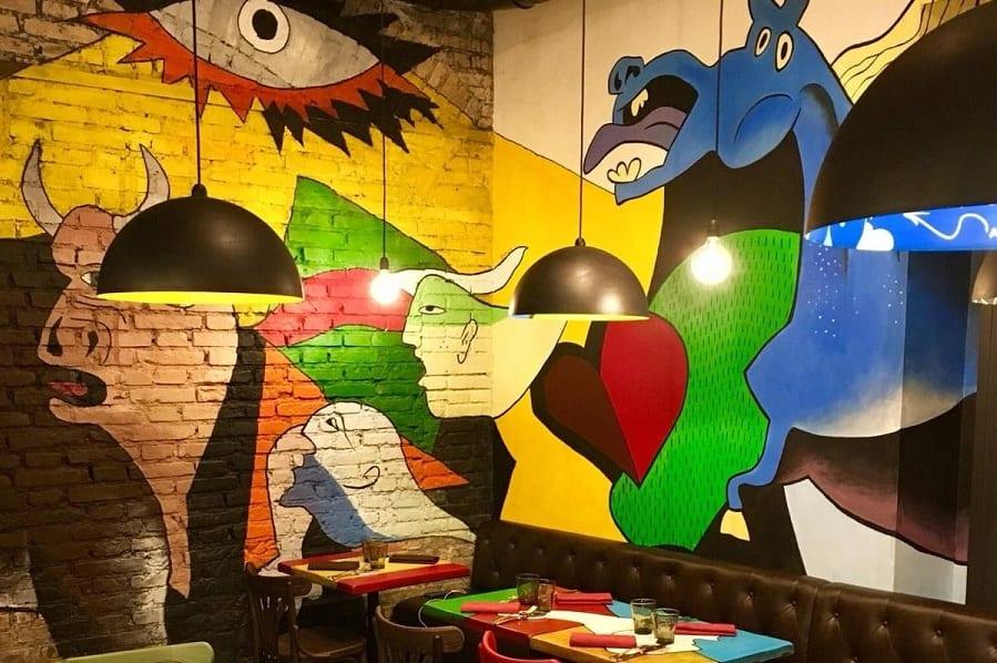 Il murales ispirato a Guernica da Malandros, Roma