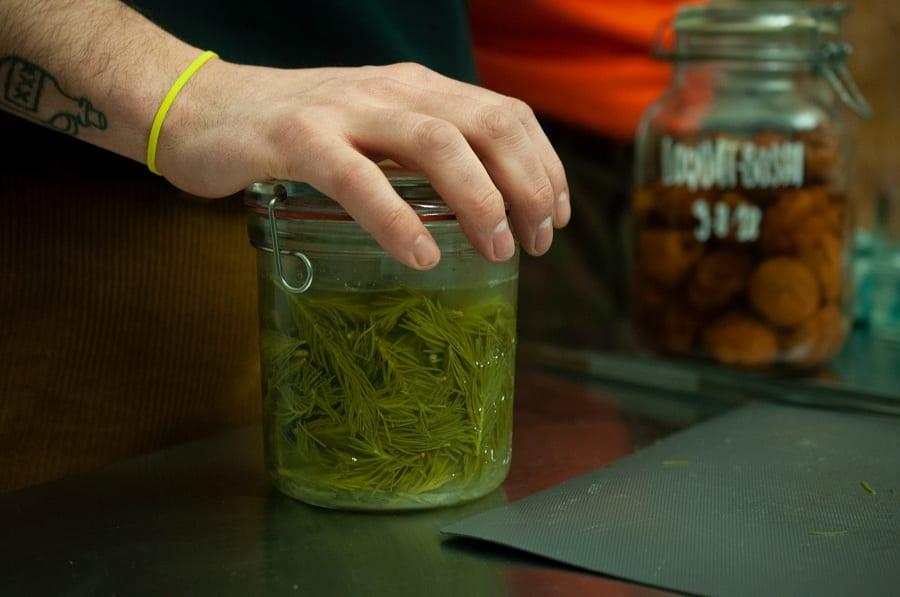 Aghi di abete fermentati in barattolo da Scarto