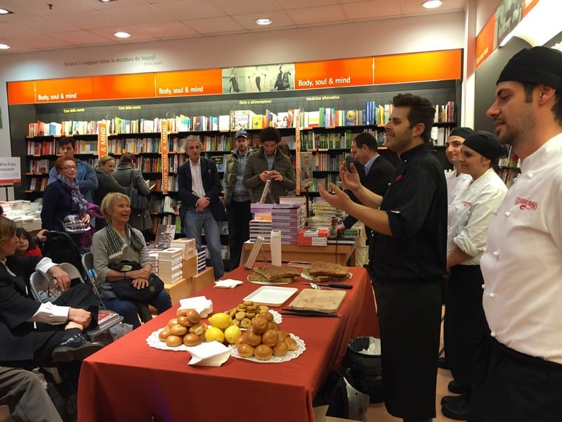 showcooking in libreria a Roma
