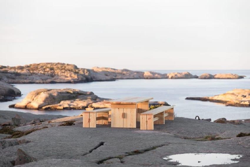 Un tavolo sul mare di Svezia