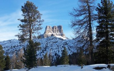 Vista panoramica delle Dolomite da Cortina D'Ampezzo