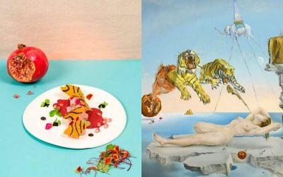 Un piatto d'autore messo a confronto col quadro di Salvador Dalì che l'ha ispirato