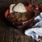 Zuppa tipica umbra della trattoria Rosso di Sera di Bevagna