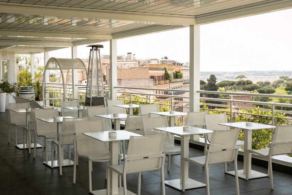The Tribune Hotel, la terrazza
