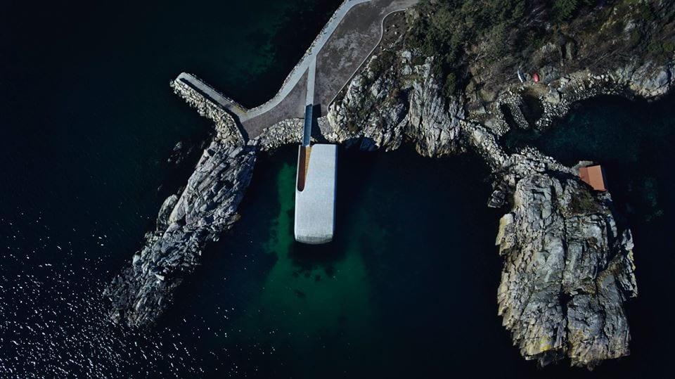Under visto dall'alto, nel Mare del Nord sulla scogliera d Baly