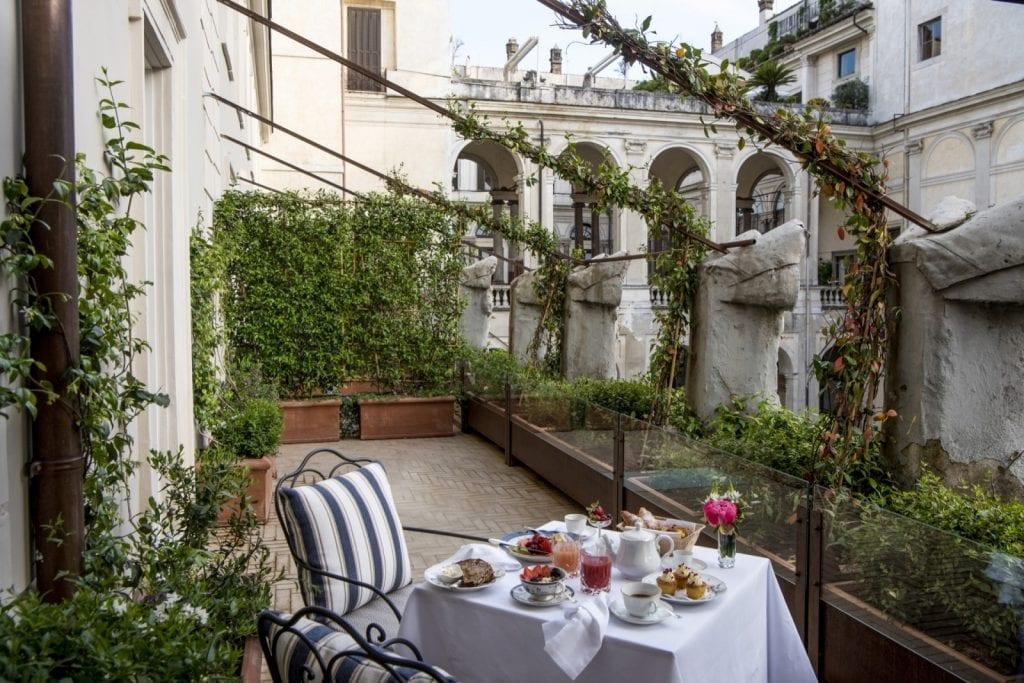 La terrazza su palazzo Borghese