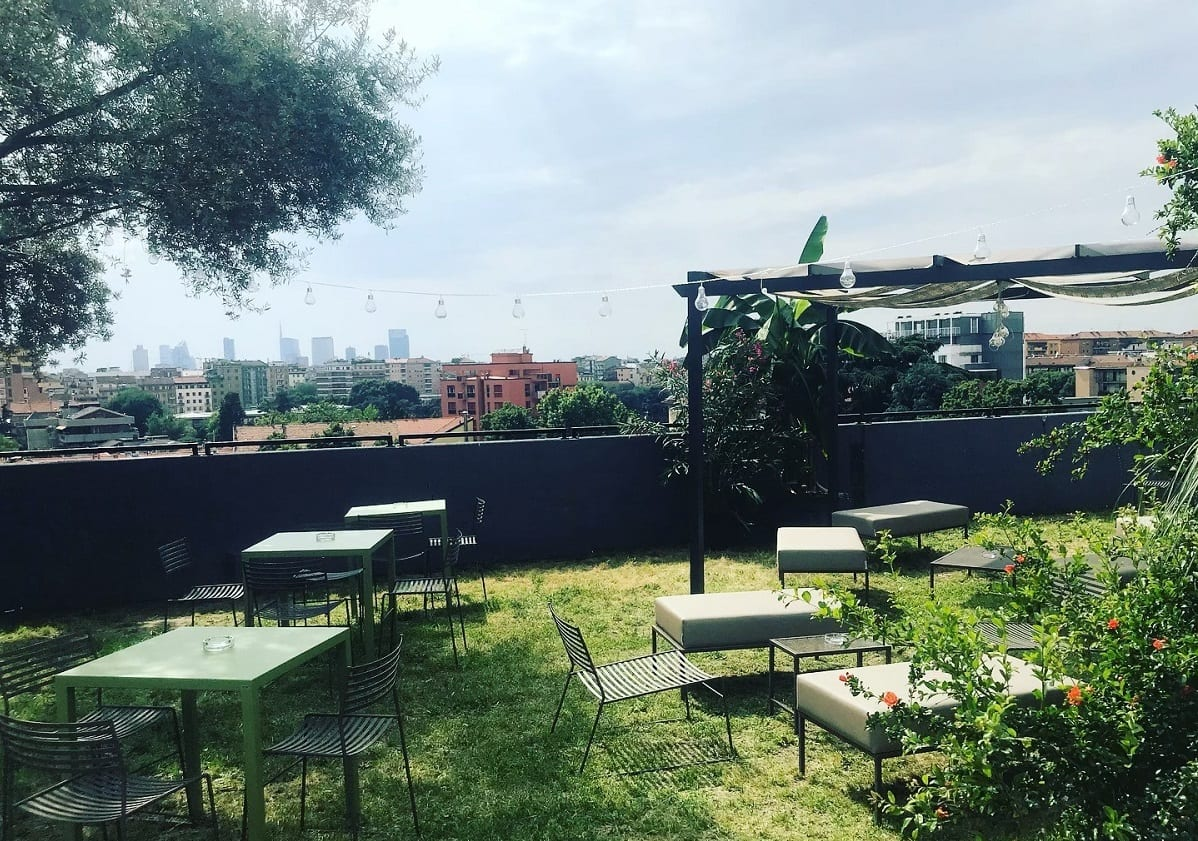 Il giardino sul tetto di Visionair per l'aperitivo a Milano