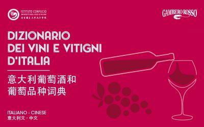 Dettaglio copertiina dizionario dei vini